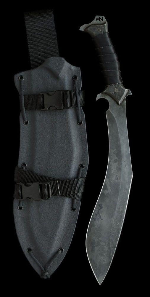 The Vakra Kukri Fixed Knife Blade by Zombie Tools @aegisgears https://www.zombietools.net/shop/vakra/