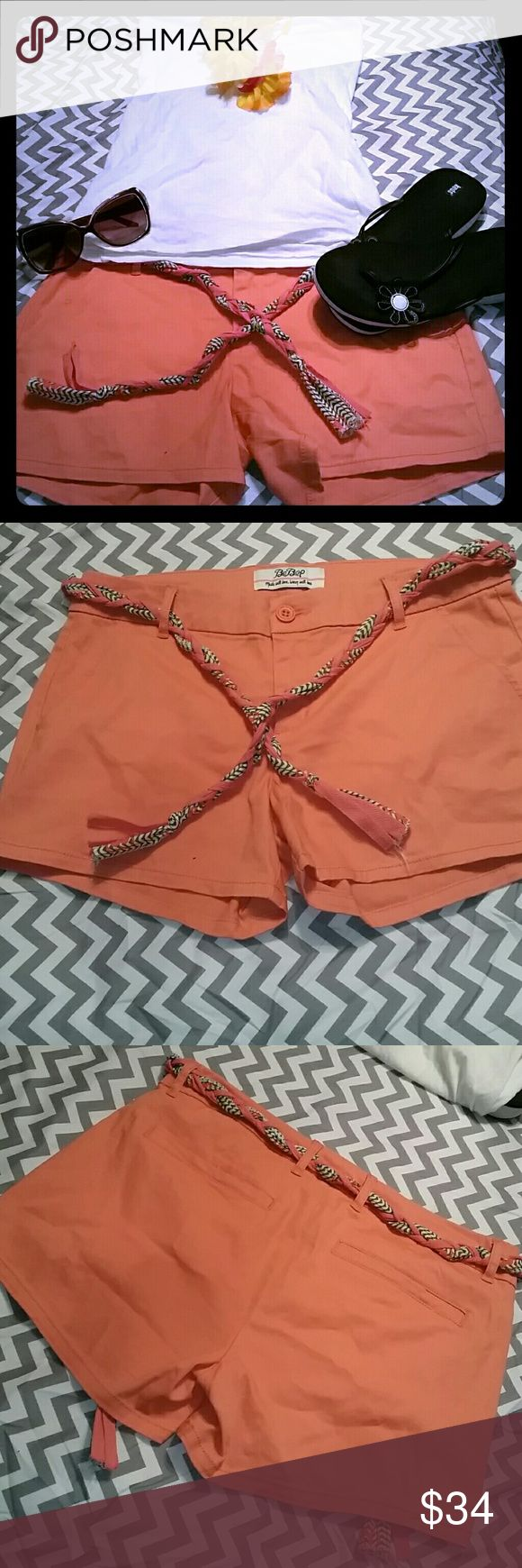 Women's shorts orange . Shorts have never been worn. They are in excellent condition.  98% cotton 2%spandex. BEBOP Shorts