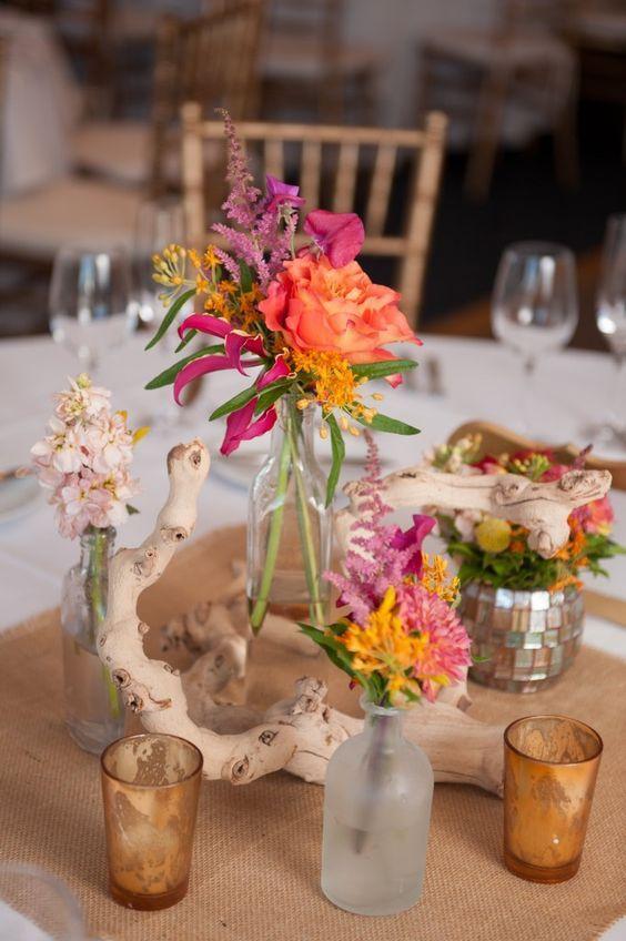 Best driftwood wedding centerpieces ideas on pinterest