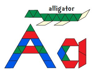 46 best pattern block activities images on pinterest pattern alligatorletter a tons of pattern block mats in color or bw spiritdancerdesigns Gallery