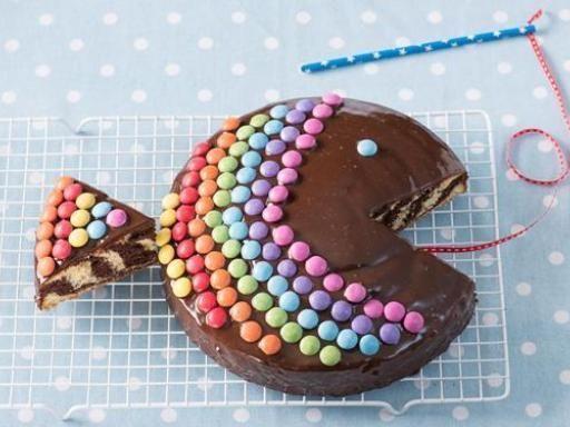 Rezept Zebrakuchen-Regenbogenfisch, unser Rezept Zebrakuchen-Regenbogenfisch - gofeminin.de