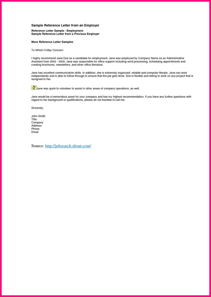 Employer Reference Letter Sample Crisologalapuz Employment Free