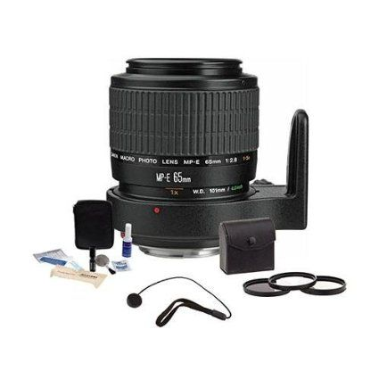 On my wishlist Canon MP-E 65mm f/2.8 1-5x Macro Photo Manual Focus Telephoto Lens Kit, USA with Tiffen 58mm Photo Essentials Filter Kit, Lens Cap Leash, Professional Lens Cleaning Kit,