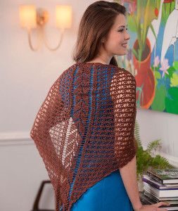 Falling Leaves Shawl | AllFreeCrochet.com - Adjust pattern to turn into a scarf