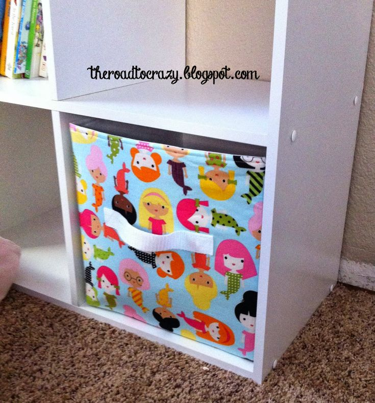 The Road to Crazy: Kids' Toy Storage Part 2: Fabric Storage Cube Tutorial