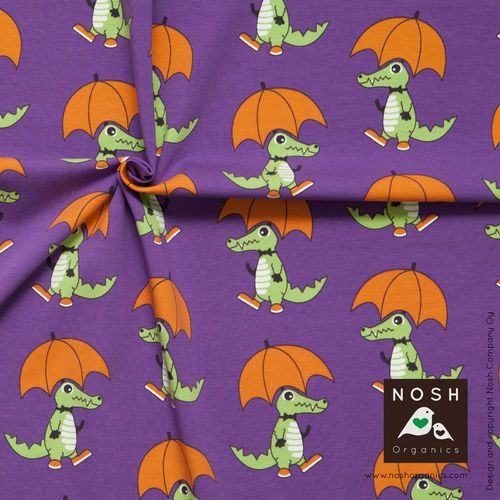 Croco, Lilac by NOSH. Organic cotton jersey.