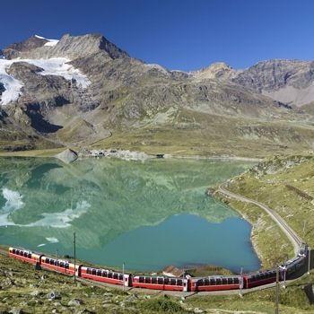 Le Bernina Express en Suisse : De trains en trains à travers les cinq continents - Linternaute