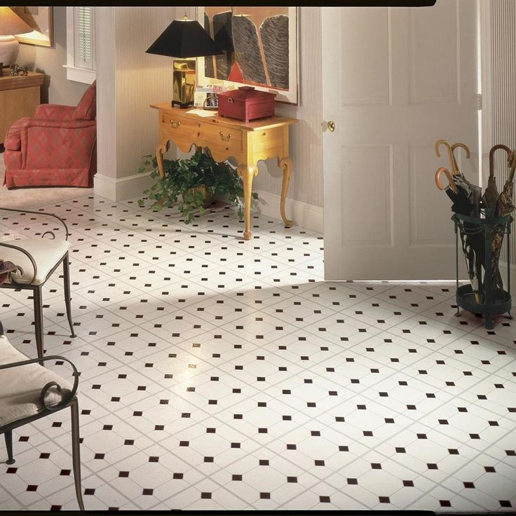 Armstrong Flooring 45piece 12in x 12in Black/White Peel
