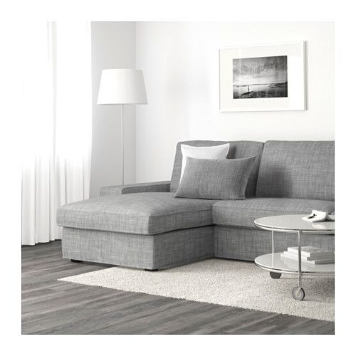 KIVIK Loveseat and chaise - Isunda gray - IKEA I want this too.