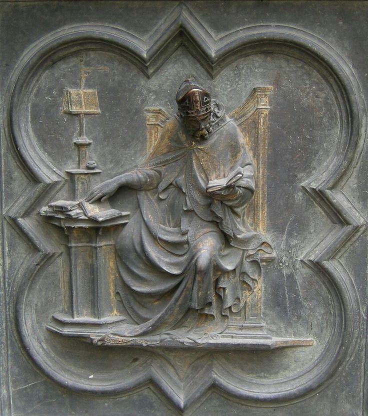 Porta Nord del Battistero di Firenze.  1407-1424. San Gregorio.