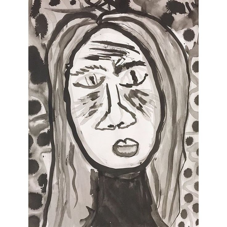 'In The Shadows', by a 5th grader.  ----------------------------  From a series of self-portraits for the Child Mind Institute Art Show, by elementary and middle school students of Success Academy Charter School.