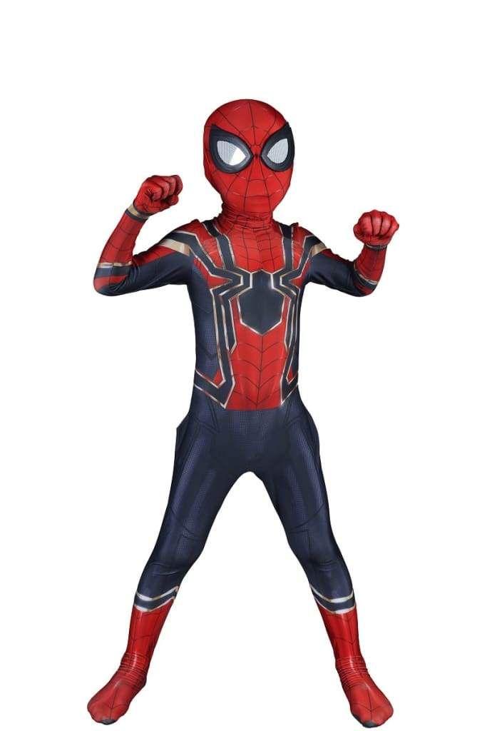 Spiderman Cosplay Costume Avengers Fancy Makeup Jumpsuit Kids Into the SuperHero