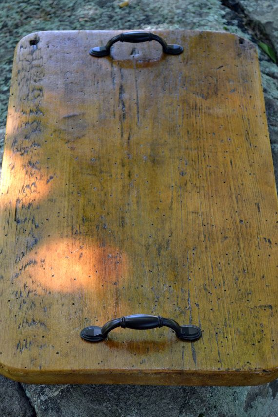 Serving Tray made of salvaged American barn wood by TheKeepingShop