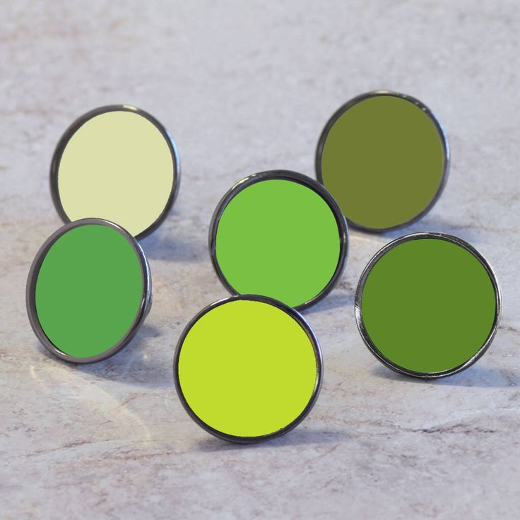 I've just found Green Cupboard Door Knobs Drawer Handles. Choose from our range of 20 different shades of green to suit your furniture. These will help create a perfect accent colour for your home . £6.00