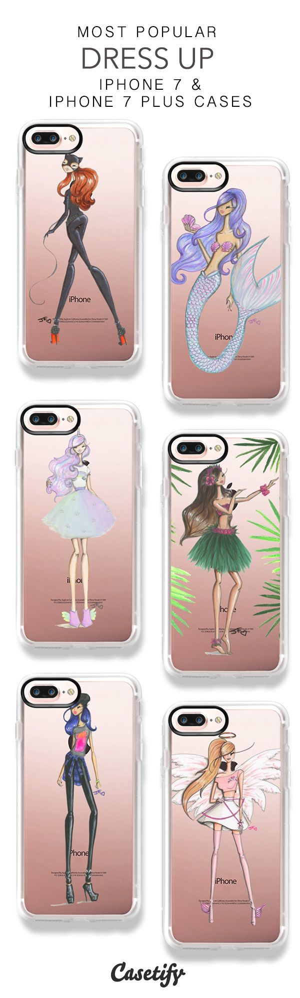 Most Popular Dress Up iPhone 7 Cases & iPhone 7 Plus Cases here > https://www.casetify.com/jfillustrations/collection?