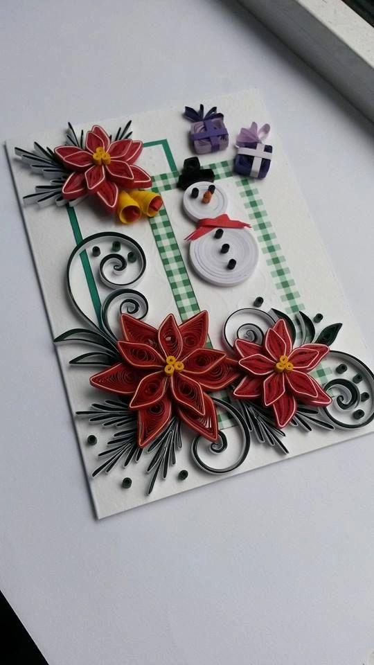 Merry Christmas Card  Handmade Card by Gericards on Etsy