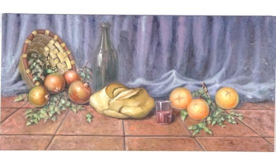 Cuadro Cesta Pan y Frutas [04-015]