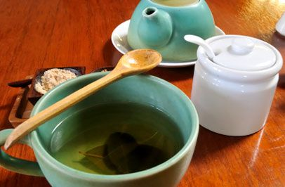 tea time in Peru.  Coca tea is a herbal tea made using the leaves of the coca plant, which is infamous for containing small amounts of cocaine.  this is normally served after mealtimes in the region of the Andes Mountain range.