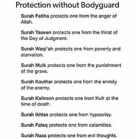 Need protection?  Pick up your Qur'an and read!