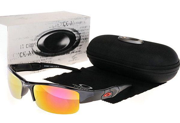 Oakley Asian Fit Flak Jacket Sunglasses Black Frame Fire Lens  $34.96 http://www.bigbootshotsale.com/