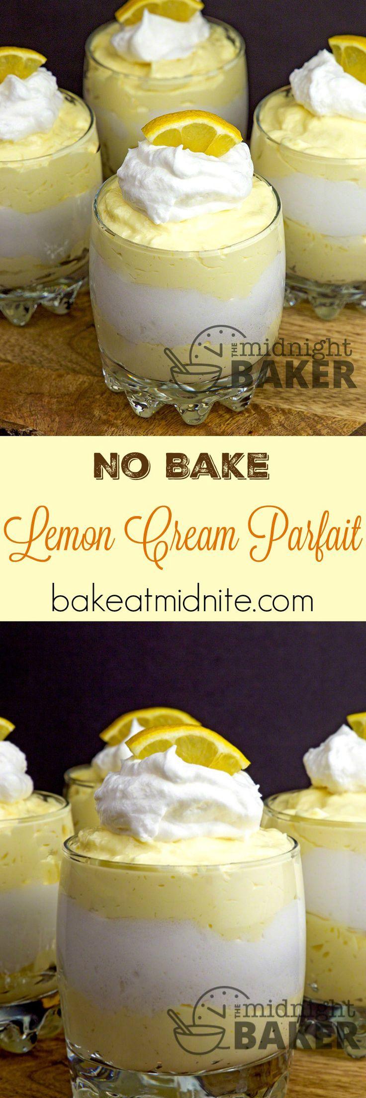This no-bake creamy lemon dessert is full of lemony flavor with a velvety texture