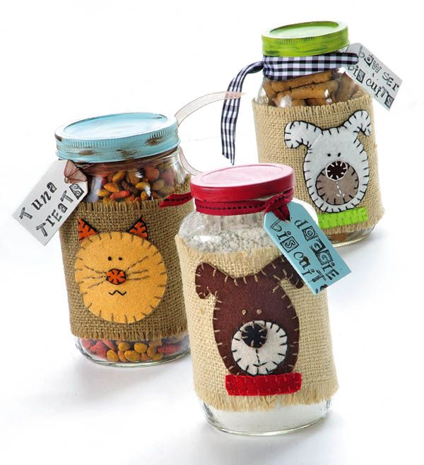 Dog & Cat Treat Mix Jars - Crafts 'n things