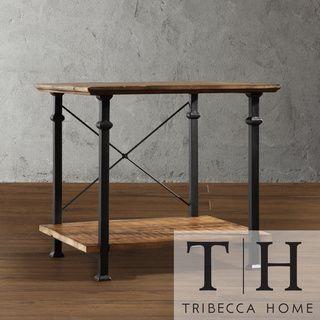 Tribecca Home Myra Vintage Industrial Modern Rustic End Table By Tribecca Home Rustic End