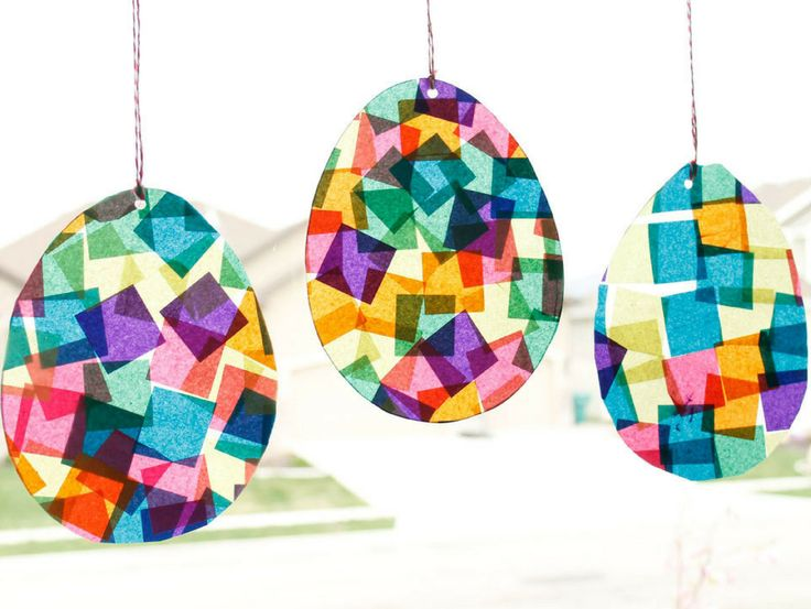 Suncatcher Easter Eggs Craft