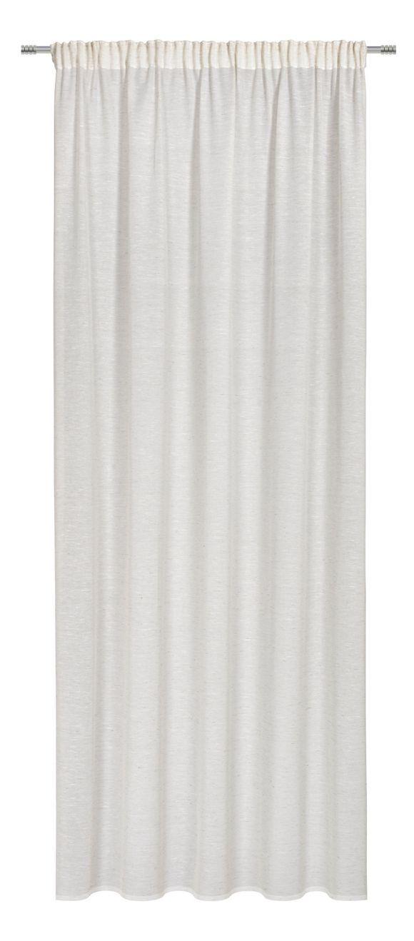 Dieser Vorhang von ESPOSA setzt einen schlichten Akzent an Ihren Fenstern. Die natürliche, helle Farbe ist besonders dezent und harmoniert perfekt mit Ihrer Inneneinrichtung. Gleichzeitig lässt das Wohnaccessoire dank seiner transparenten Oberfläche Helligkeit in den Raum. So schafft er ein angenehmes Ambiente und ist zudem dekorativ. Sehr praktisch: Der Vorhang ist für Stange und Schiene geeignet. Überzeugen Sie sich selbst!