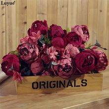 Gorgerous Artificial Peony Vintage Autumn simulation Peony one bouquet for wedding flowers party office and home centerpiece(China (Mainland))