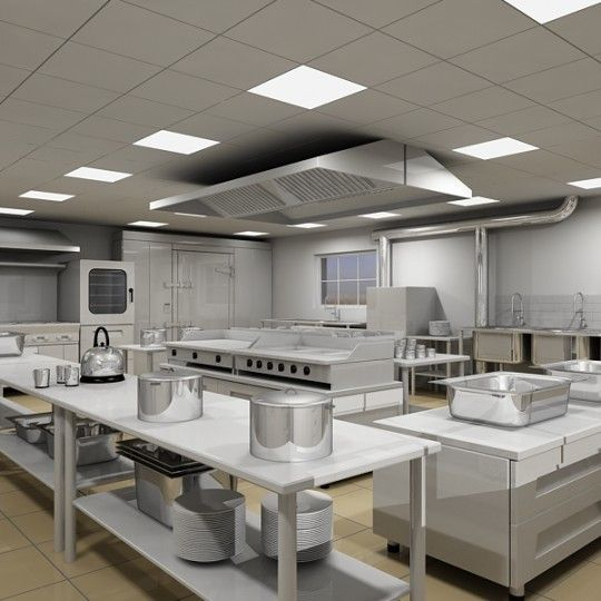 safe #food preparation in well-designed #commercial #Kitchen.