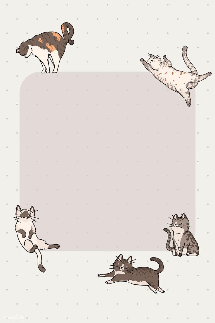 Download Download premium vector of Cat lover pattern note paper ...