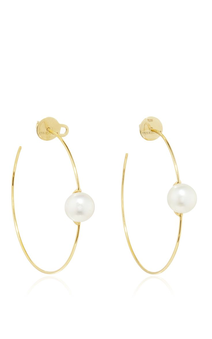 These Hoop Earrings By Ana Khouri Are Rendered In Yellow Gold, Each  Accented With Single