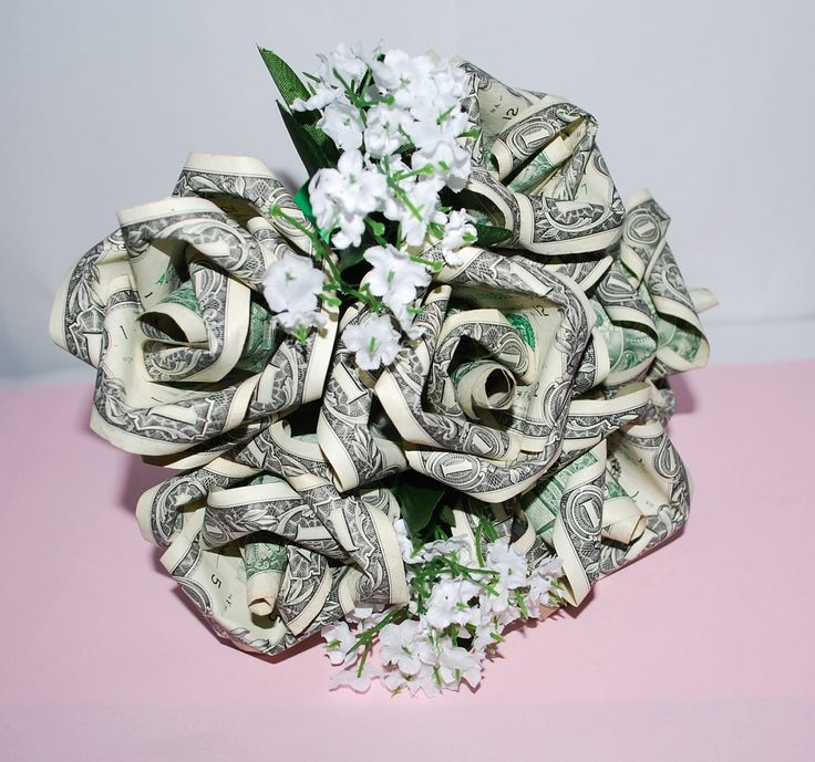 A personal favorite from my Etsy shop https://www.etsy.com/listing/481440997/money-roses-money-flower-bouquet-rose