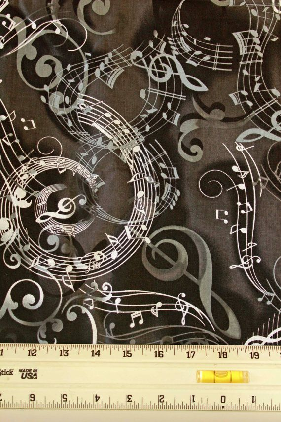 14 best music fabric black/white images on Pinterest | View source ... : music quilt fabric - Adamdwight.com