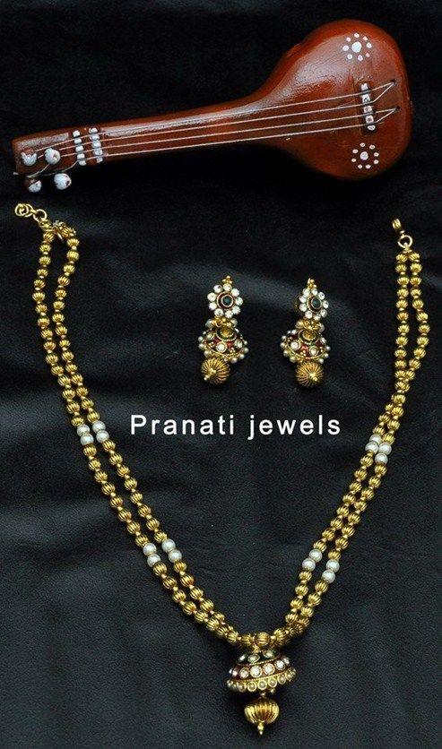 Golden & White Beads