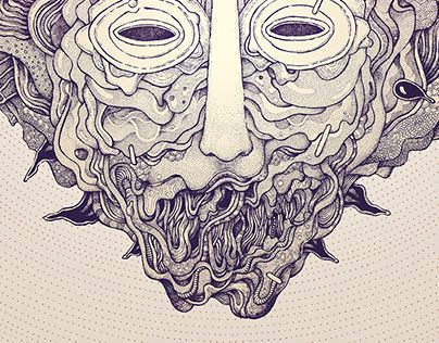 """Check out new work on my @Behance portfolio: """"Masks project: No.22"""" http://be.net/gallery/54206805/Masks-project-No22"""