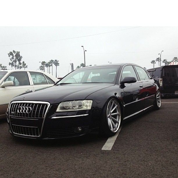 Slammed audi a8 on our cv1 wheels customer submissions for Garage audi 93