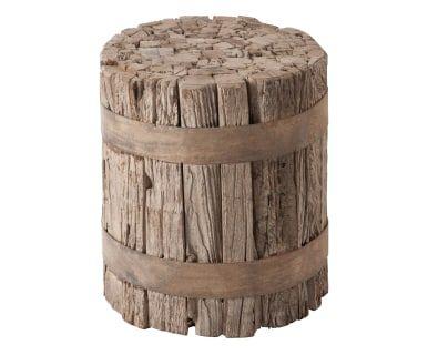 Sgabello in legno naturale Cindy