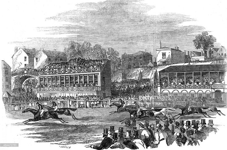 The race for the Chester Cup, Chester, Cheshire, 1846. The Chester Cup is a horse race held annually in May at Chester Racecourse. It was first run in 1824.