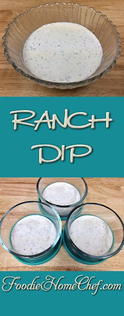 Ranch Dip - My favorite restaurant for ordering hot/spicy buffalo wings has the best Ranch Dip I've ever had. They wouldn't share the recipe, so I took some home & after many tries I was able to recreate it and the results tastes exactly like theirs. I mostly serve this dip with wings, along with cut up celery sticks & whole scallions. This also makes a great dip for a cut up fresh vegetable platter.