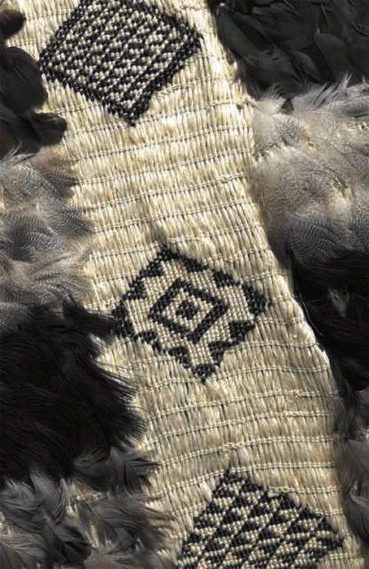 woven flax textile maori cloak