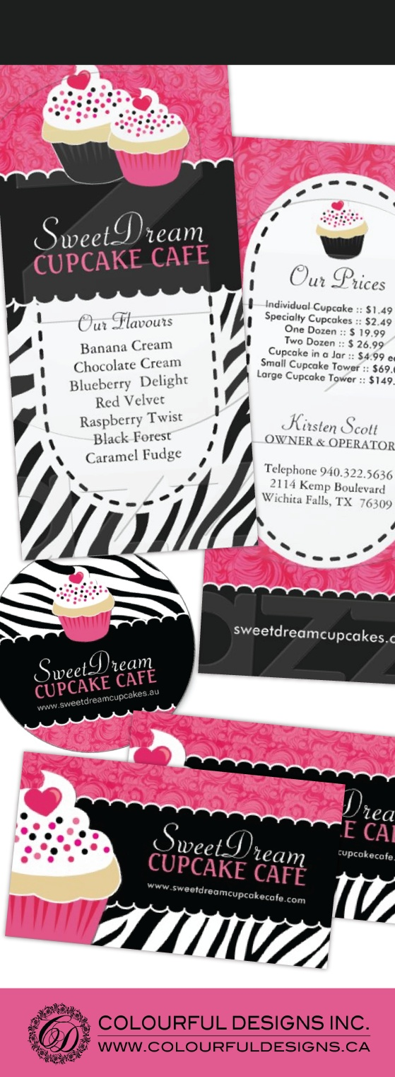 29 best business cards images on pinterest bakery business cards fully customizable cupcake promotional items designed by colourful designs inc copyright 2013 magicingreecefo Images