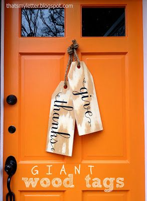 Cute alternative for a wreath on your front door... Still think of out a ribbon, some fall berries or seasonal flowers on the top to make it stand out more