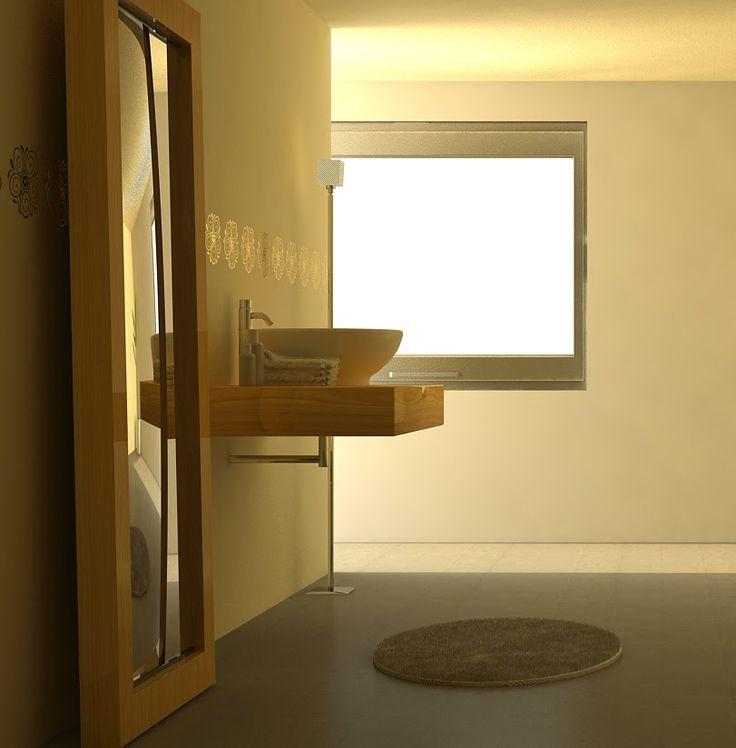 Banheiro - Cinema 4D Maxon e Vray