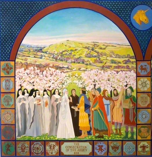 The Millennium Mural Panel I - The Consecration of Shaftesbury Abbey, 888
