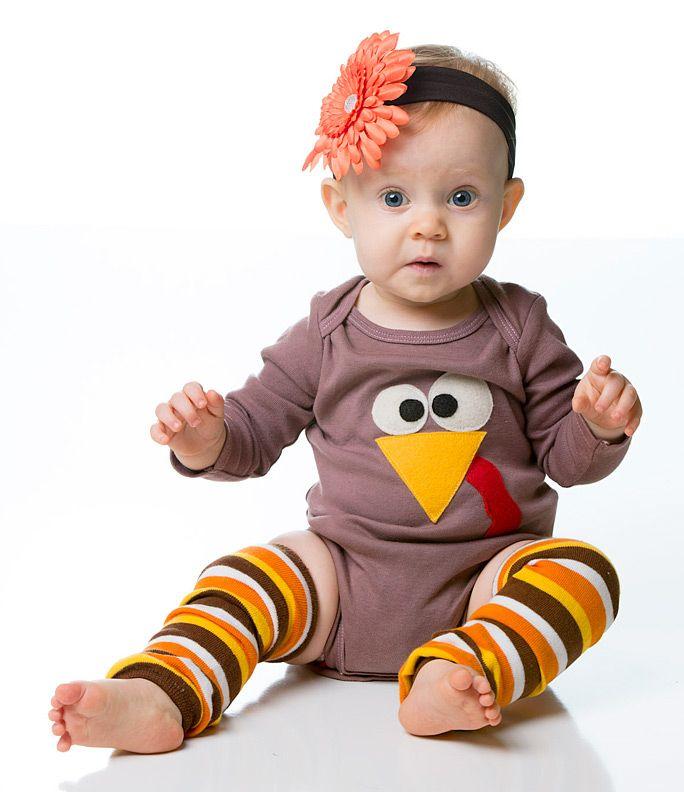 Thanksgiving Stripe Baby Leg Warmers