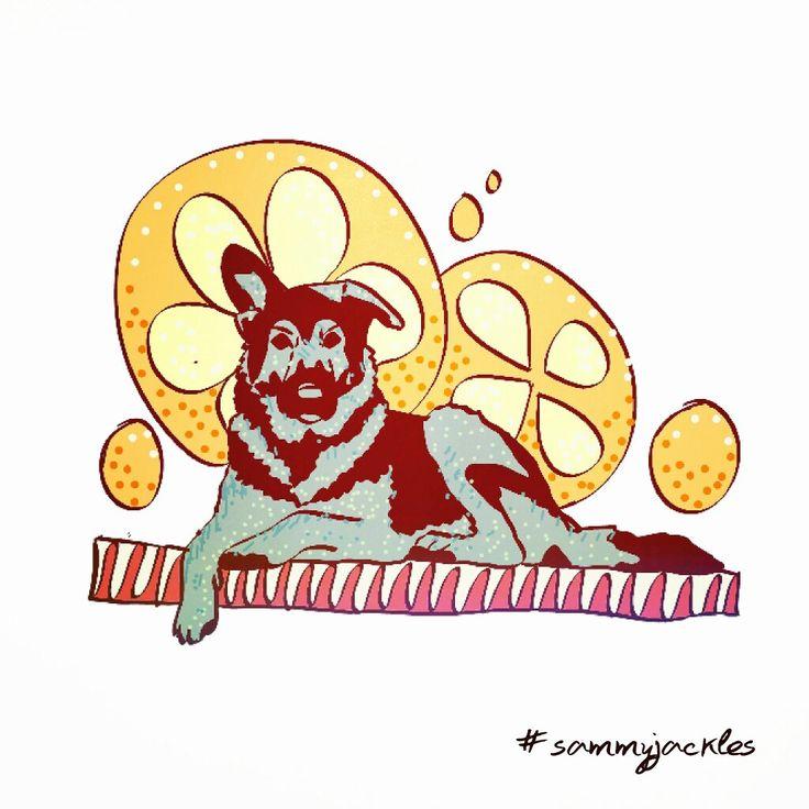 Lemon. #sammyjackles #doggies #adorable #dogs #dogart #art #pets #petart #commission #commission