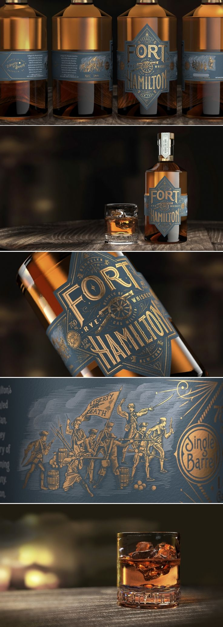 Check Out the Sophisticated Look of Fort Hamilton Whiskey — The Dieline | Packaging & Branding Design & Innovation News