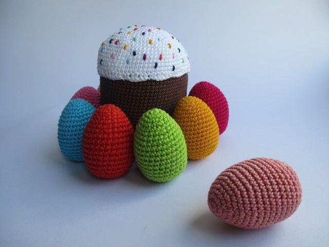 Crochet Easter cake,Easter cake toy,Easter egg toys,Easter home decor,Baby gift,Crochet baby toy, by AmazingCrochetStore on Etsy